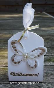 Stampin up, Hochzeit, Wedding, Watercolor Wings, Goodie, Gästegruß