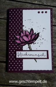 Floating Reinker Technique Anleitung in Bildern, Tutorial, Remarkably You, Stampin up, Georgeous Grunge, Landlust
