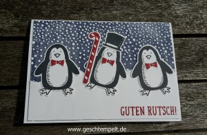 Es schneit, Paper tearing Technik Anleitung, stampin up, frostige freunde, snow friends