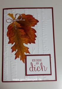 Vintage Leaves, stampin up, Im Wald, Gute Gedanken