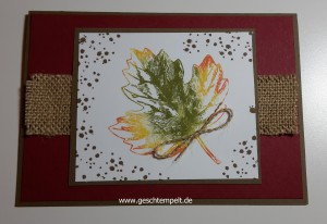 Babywipe Technique Tutorial Anleitung in Bildern, Vintage leaves, Stampin up