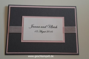 Stampin up Wedding invitation, Einladung Hochzeit