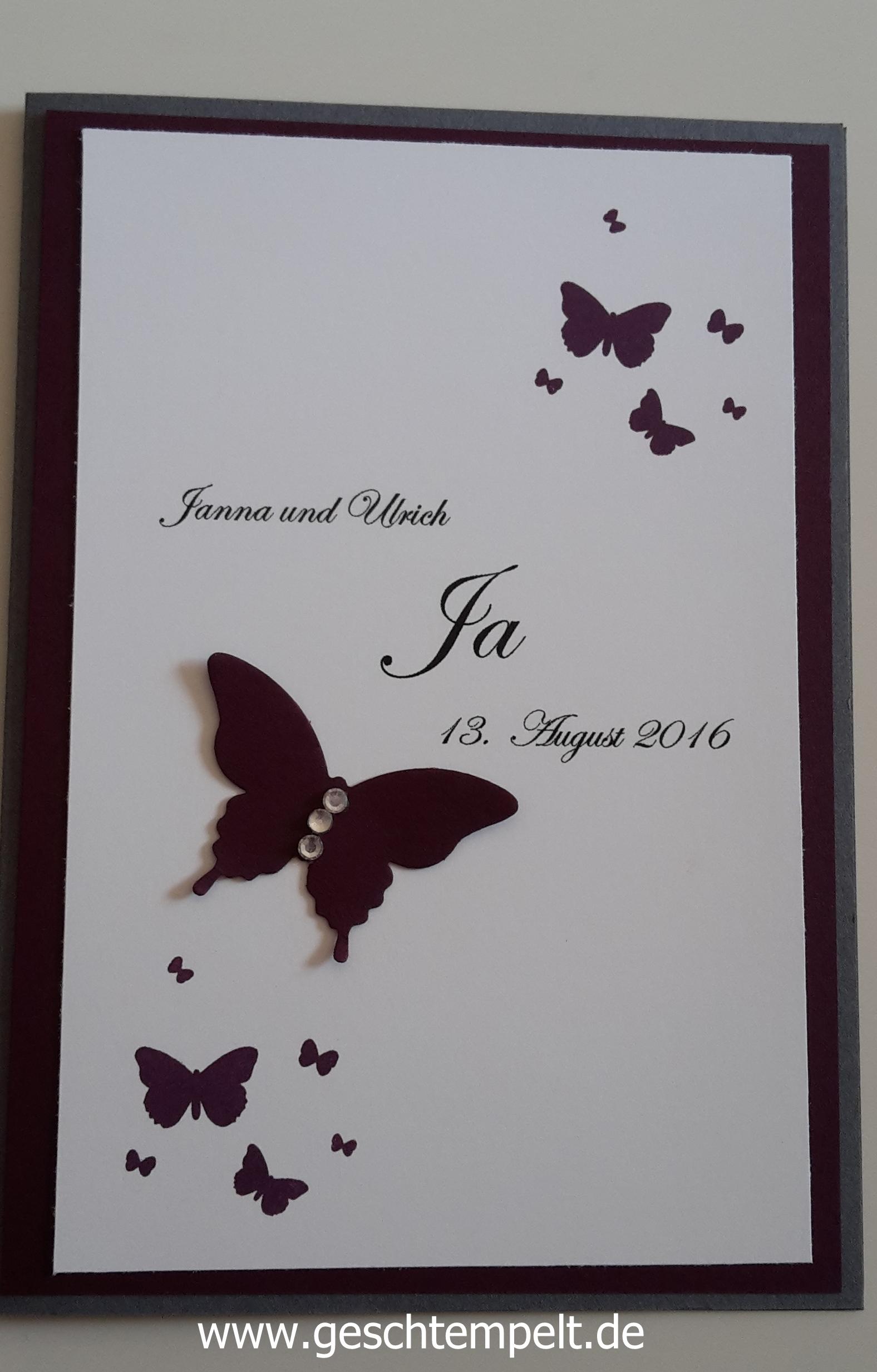 Wedding Invitation, Einladung, Hochzeit, Stampin Up, Perpetual Birthday  Calendar, Schmetterling