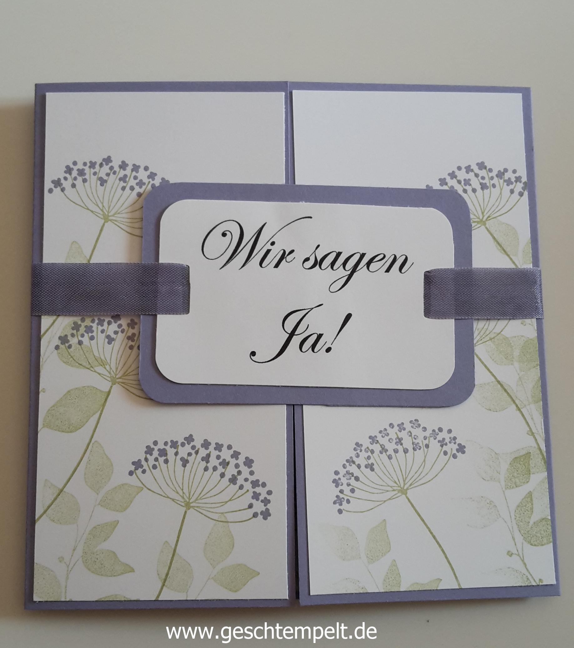 Summer Sillhouettes, Blauregen, Wedding Invitation, Einladung Hochzeit, Stampin  Up
