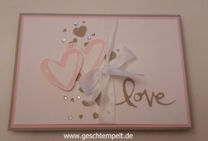 Stampin up, Wedding ,Hochzeit, Invitation, Einladung, Watercolor Words