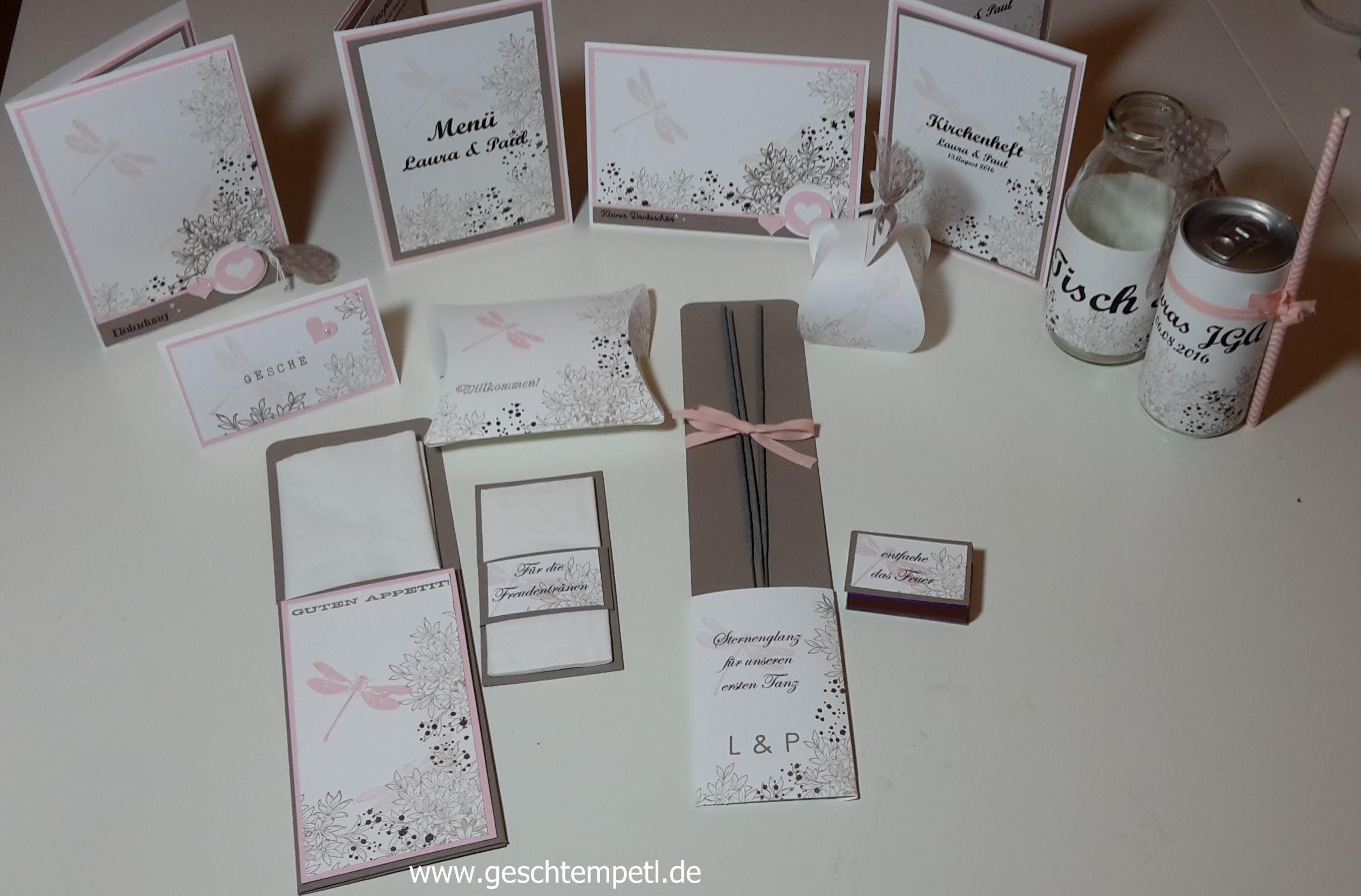Awesomely Artistic Stampin Up, Wedding, Hochzeit, Freudentränen,  Bestecktasche, Wunderkerzen, Tischdeko