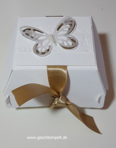 Stampin up, Hochzeit, Wedding, Watercolor Wings, Goodie, Gästegruß, Verpackung
