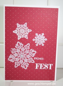 Stampin up Flockenzauber, Winterliche Weihnachtsgrüße, Weihnachten 2015