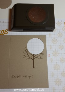 Stampin up, Sheltering Tree, Baum der Freundschaft, Spotlight Technique, Spothlight Technik, Anleitung in Bildern, Tutorial