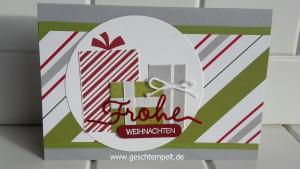 Stampin up, Weihnachtliche Worte, Winterliche Weihnachtsgrüße