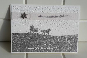 Stampin up, King, Glöckchen, Schlittenfahrt