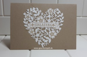 stampin up, Blüten der Liebe, Blühendes Herz, So viele Jahre, große Zahlen, Hochzeit, Einladung, Wedding, Invitation