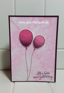 Stampin up, Blowing Bubbles Background, Seifenblasen Hintergrund, Anleitung in Bildern, Tutorial, Partyballons