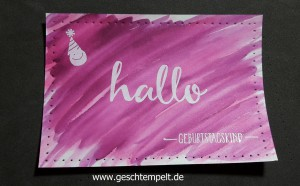 Stampin up, embossing resist, Faux stitching technique, Anleitung in Bildern, Tutorial, Hallo, hello