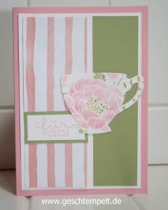 Stampin up, Teestunde, Geburtstagsblumen, Geburtstagsstrauß, Geniale Grüße, Vollkommene Momente, Teebeutelbuch