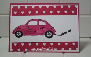Stampin up, Beatiful ride, Liebesblüten, Just married, Hochzeit
