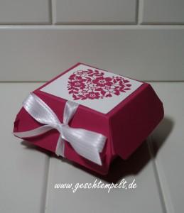 Stampin up, Blüten der Liebe, Blühendes Herz, Hochzeit, Einladung, Wedding, Invitation, Hamburger-Schachtel