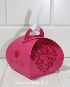 Stampin up, Blüten der Liebe, Blühendes Herz, Hochzeit, Einladung, Wedding, Invitation, Zierschachtel für Anhänger