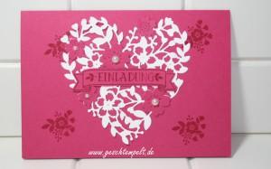 Stampin up, Blüten der Liebe, Blühendes Herz, Hochzeit, Einladung, Wedding, Invitation