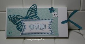 Stampin up, Botanischer Garten, Schoko-Ziehverpackung, Lindt Schokolade, So lecker, Itty Bitty, Schmetterling, Butterfly