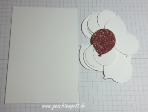 Stampin up, Partyballons, Stanze Luftballons, Faux Dry Embossing Techique, Tutorial, Anleitung in Bildern Technik Sonntag