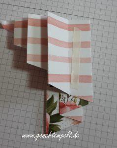 Stampin up, Paper Pleating, Anleitung in Bildern, Technik Sonntag, Tutorial, Geburtstagsblumen, Geburtstagsstrauß