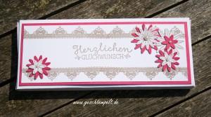 Stampin up, so dankbar, dreierlei Blüten, wunderbare Worte, Milka Schokolade, Verpackung