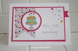 Stampin up, Geburtstagspuzzle, Meine party