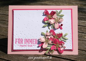 Stampin up, Hochzeit, wunderbare Worte, Pflanzen-Potpourri, botanical Builders, leise rieselt