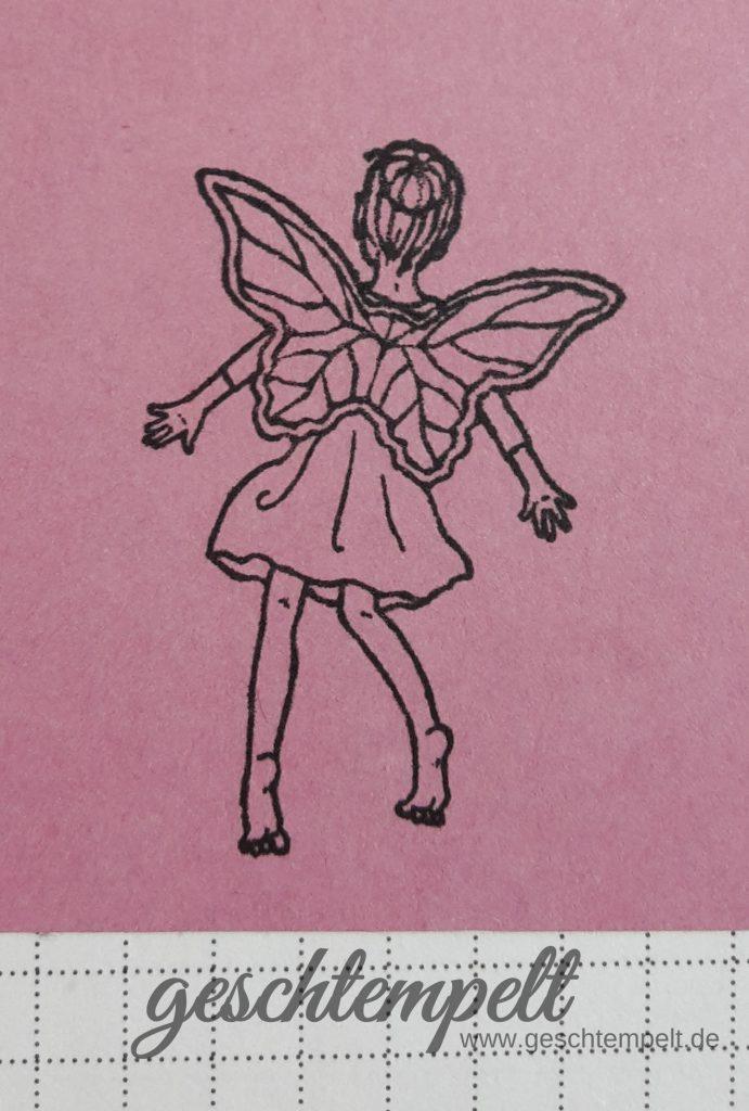 Stampin Up, Technik-Sonntag, Stampin with labels, Anleitung in Bildern, Tutorial, Einfach zauberhaft, Fairy Celebration