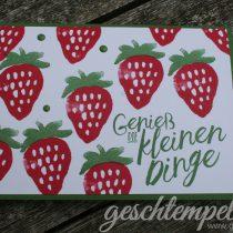 Stampin up, Fresh Fruits, Erdbeeren, Strawberries, Im Herzen, Layering Love, Donnerwetter, Weather together
