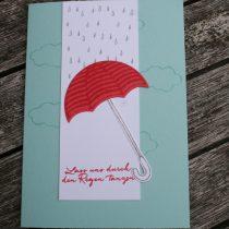 Stampin up, Donnerwetter, Regentage, Weather together, Umbrella Weather