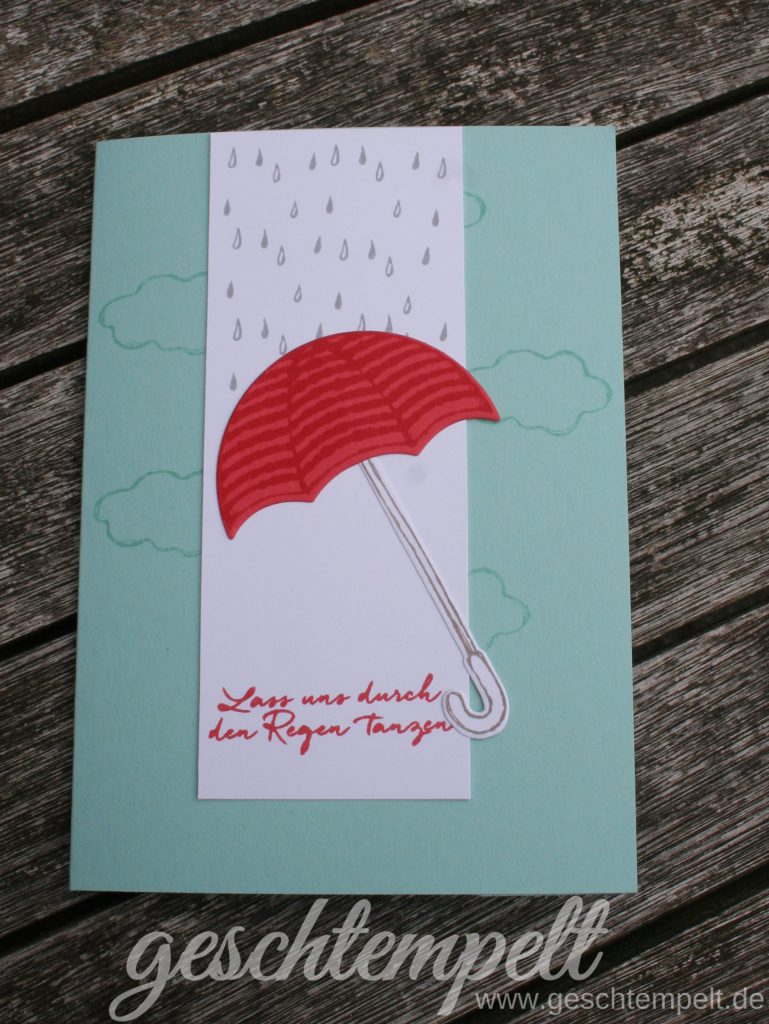 Stampin up, Donnerwetter, Regentage, Weather together, Umbrella Weather