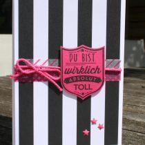 Stampin up, Pink mit Pep, Pop of pink, Gut gewappnet, Badges & Banners