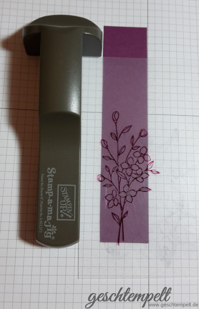 Stampin up, Schatten Technik Shaddow Technique, Anleitung in Bildern, Tutorial, Touches of Texture, Rosenzauber