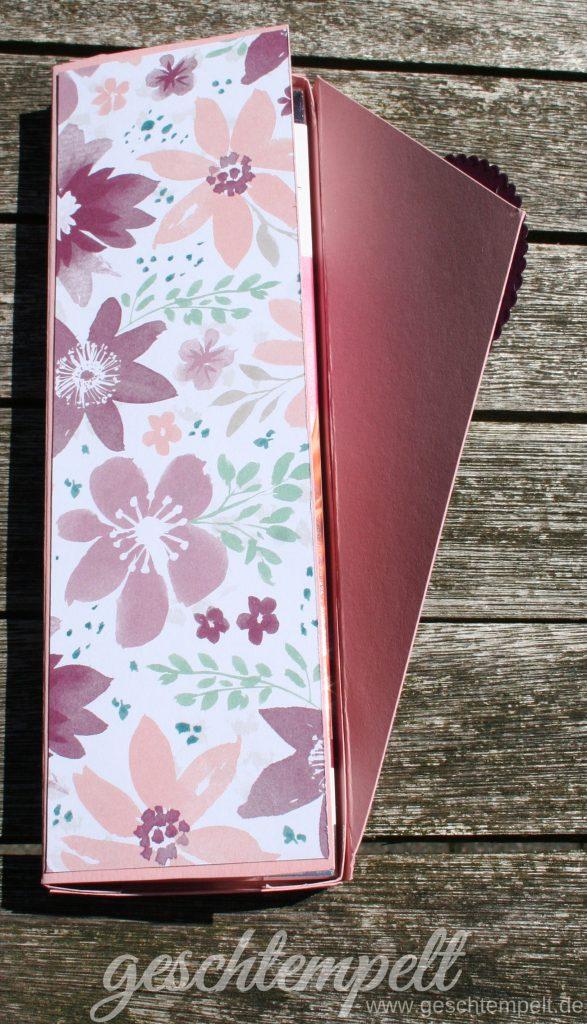 Stampin up, Lindt Schokolade, Verpackung, Durch die Blume, lagenweise Kreise, Blooms & Wishes, Layering Circles