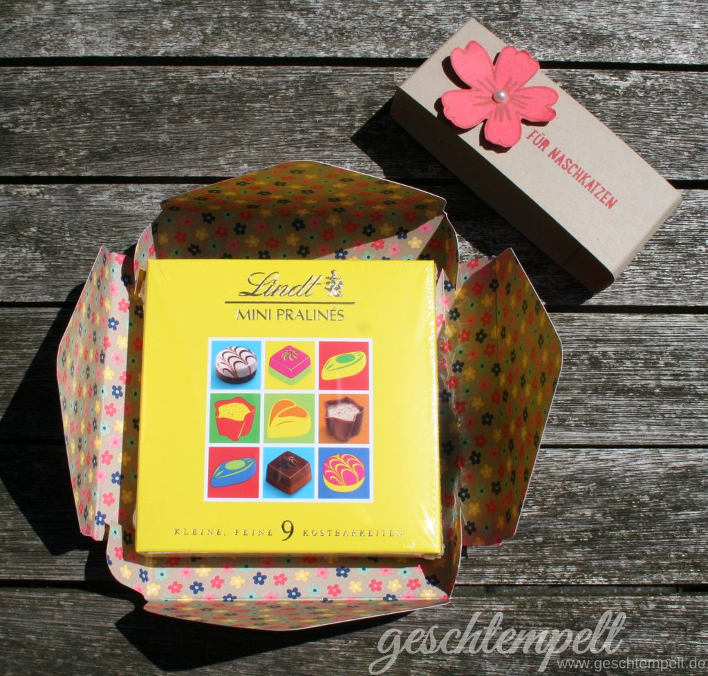 Stampin up, Lindt Pralinen, Verpackung, Muster für Dich, Cupcake für Dich, Für Lieblingsmenschen