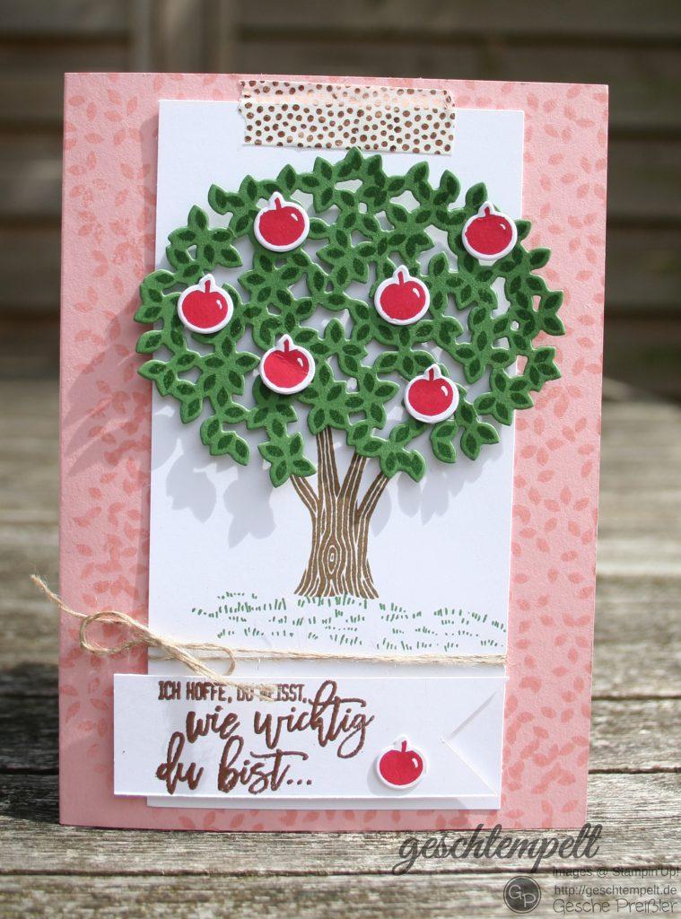 Blatt und Blüte, stampin up, Thoughtful Branches, Wald der Worte.