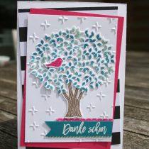 Blatt und Blüte, stampin up, Thoughtful Branches, Wald der Worte. Pink mit Pep, Pop of Pink
