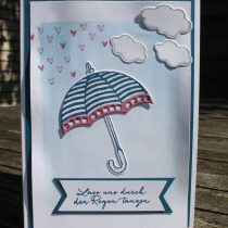 Stampin Up, Technik Sonntag,. Tutorial, Anleitung in Bildern, Donnerwetter, Acrylblock Marker Technik, Technique, Regentage, Umbrella Wether, Weather Together