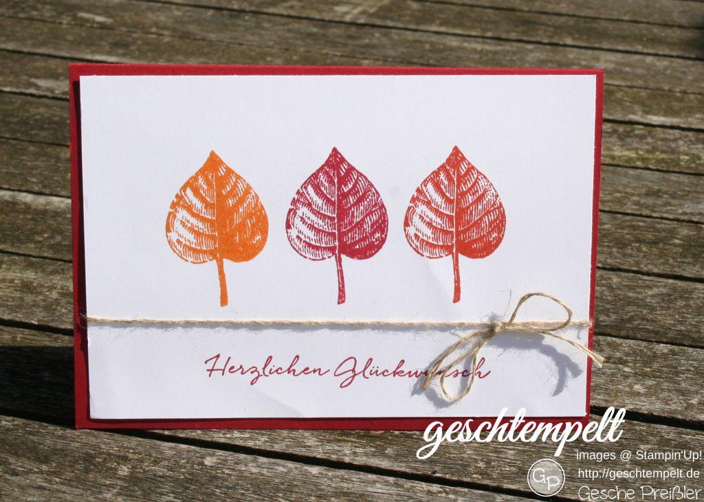 Stampin up, Vintage Leaves, Florale Grüße, Floral Phrases