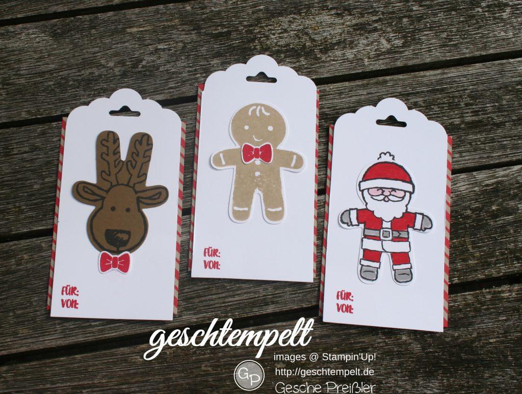 Stampin up, Ausgestochen Weihnachtlich, Lebkuchenmännchen, Anhänger, Weihnachten, Cutie Cutter Christmas