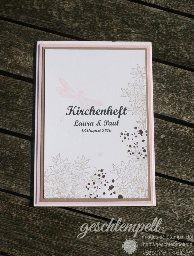Stampin up, Awesomely Artistic, Wedding, Hochzeit, Anleitung, Kirchenheft
