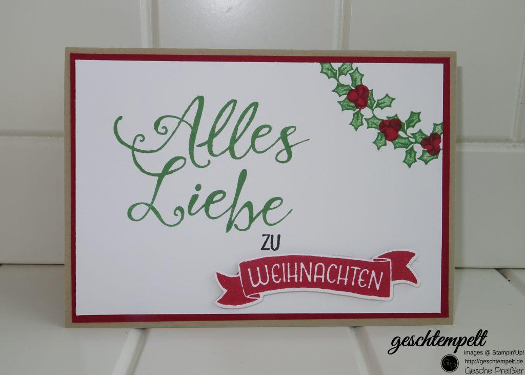 Stampin up, Grüße rund ums Jahr, Adventsgrün, Weihnachten, Christmas
